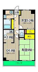 エヴァーグリーン横浜三ツ沢[404号室]の間取り