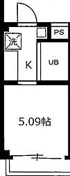 東京都板橋区清水町の賃貸アパートの間取り