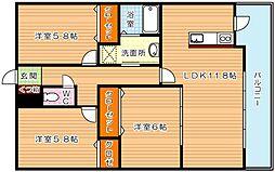 メゾンほおづきI[9階]の間取り