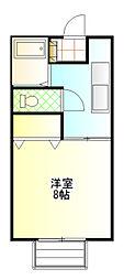 茨城県土浦市木田余東台1丁目の賃貸アパートの間取り
