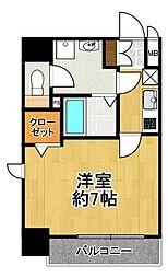 フォーリアライズ大正ソーレ 8階1Kの間取り