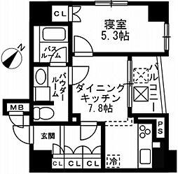 レジディア文京千石II[1003号室]の間取り
