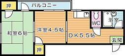 シャトレ黒崎[3階]の間取り