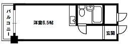 メゾン第3新大阪[8階]の間取り