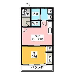 ヤマヒロハイツ[1階]の間取り