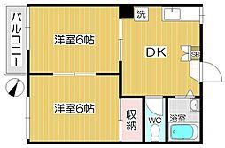 サンコーポ戸田[2階]の間取り
