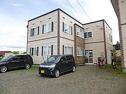 北海道空知郡上富良野町向町1丁目の賃貸アパートの外観