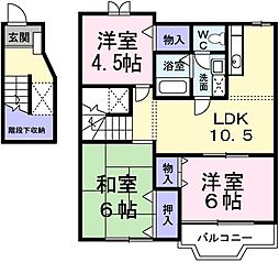 ピースフル2000 II[2階]の間取り