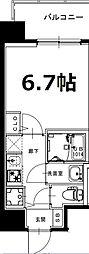 大阪府大阪市淀川区西宮原2丁目の賃貸マンションの間取り