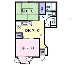 ベラーノ K・M[2階]の間取り