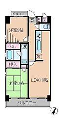 神奈川県横浜市港北区下田町5丁目の賃貸マンションの間取り