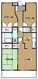 秋津高山館[107号室]の間取り
