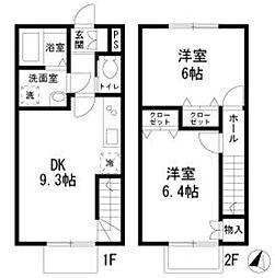 [テラスハウス] 神奈川県横浜市中区滝之上 の賃貸【/】の間取り