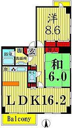 東京都足立区西新井7丁目の賃貸マンションの間取り