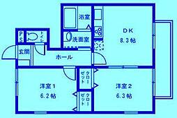 神奈川県川崎市宮前区神木本町4丁目の賃貸アパートの間取り