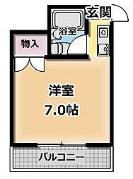 フリーディオ御堂[3階]の間取り