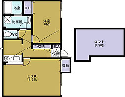 ドエル梅香V[1階]の間取り