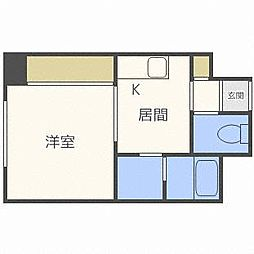 北海道札幌市中央区南十条西18の賃貸マンションの間取り