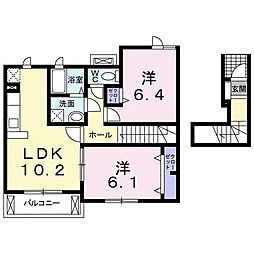 ガーデニア七番館[2階]の間取り