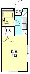 グレース秋桜[103号室]の間取り