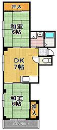 東宝コーポ[2階]の間取り