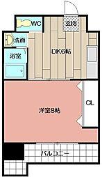 コンダクト小倉№1[902号室]の間取り