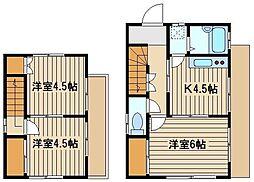 [一戸建] 東京都練馬区東大泉6 の賃貸【/】の間取り