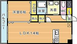 ユリシーズK[3階]の間取り