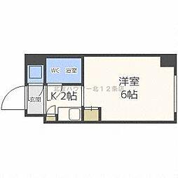 北海道札幌市北区北十二条西4丁目の賃貸マンションの間取り
