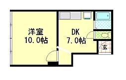 大塚クリーンビル[3階]の間取り