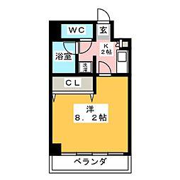 KONSORTE松原[5階]の間取り