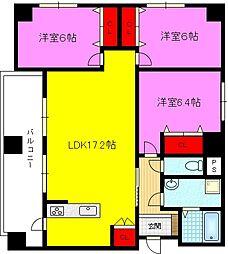 イーストマンションII[3階]の間取り
