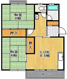 妙見島マンション[5階]の間取り