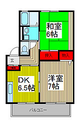 フレンドリー武蔵浦和[1階]の間取り