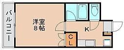 パピヨン箱崎[1階]の間取り