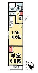 東京メトロ有楽町線 月島駅 徒歩3分の賃貸マンション 4階1LDKの間取り
