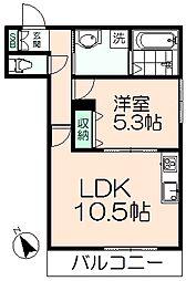 (仮称)日野市新井AメゾンB棟[102号室]の間取り