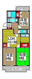 埼玉県さいたま市緑区東浦和9-の賃貸マンションの間取り