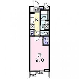 ベル・ドール[210号室号室]の間取り