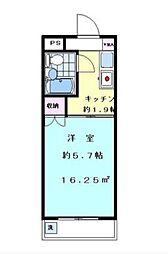 ハイタウン羽田 bt[409kk号室]の間取り