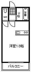 マリンハイツ和田山[303号室]の間取り