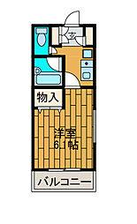 神奈川県相模原市南区東林間5丁目の賃貸マンションの間取り