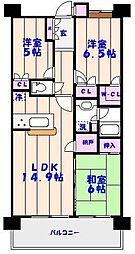 エクアス船橋夏見[406号室]の間取り