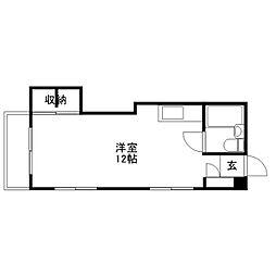 田村ビル[401号室]の間取り