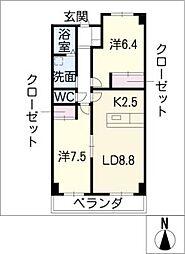 エスタシオン新川[3階]の間取り
