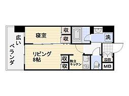 ロイヤルシティ自由ヶ丘[5階]の間取り