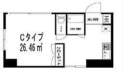 神奈川県横浜市神奈川区西神奈川1丁目の賃貸マンションの間取り