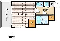 アニメイト神戸[4階]の間取り