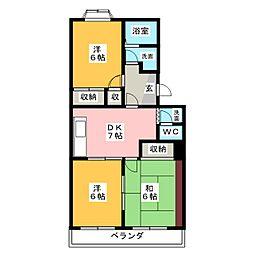 第二エステート富士[2階]の間取り