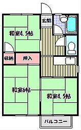 増田ハイツ[2階]の間取り